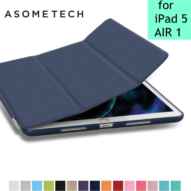 Case for iPad air 1 Utra Slim PU Leather sleep/wake Magnetic Cover drop resistance Flip tablets Case for iPad 5 air 1 Cover capa