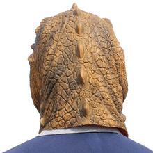 1 Pc Halloween Mask Fancy Emulsion Dress Party Props Dinosaur Headgear Head Cover for Men and Women (Dinosaur)
