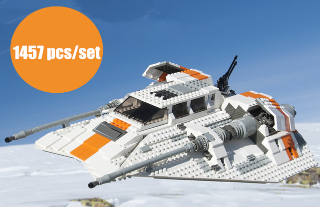 все цены на New Toys for children Snowspeeder classic star fighter fit legoings star wars Snowspeeder model Building Blocks Bricks fit 10129
