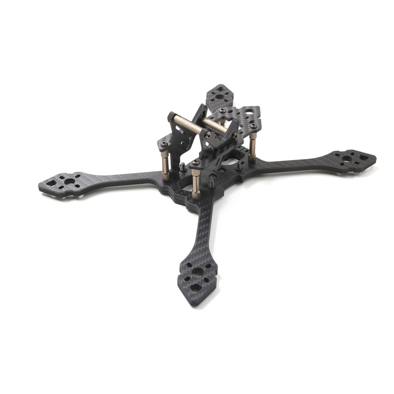 GEPRC GEP TSX5 Viper 220mm FPV Racing Frame Stretch X 5mm A rm Carbon Fiber Supports Runcam Swift 3K With 2pcs Battery Strap diy fpv rc drone geprc viper 220mm gep tsx5 thickness 5mm arms quadcopter 7075 aviation aluminum