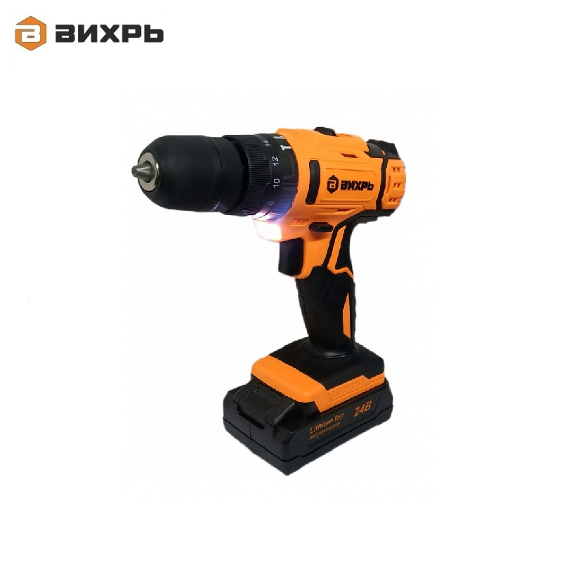 Cordless impact drill driver VIHR DA-24L-2KU Accumulator screwdriver Screw driver Battery-powered drill Hand drill impact drill vihr du 1100