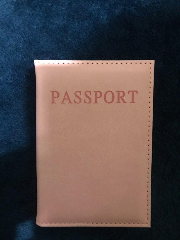 PU Leather Women Passport Holder Couple Models Girls Travel Passport Cover Unisex Card Case Man Card Holder photo review