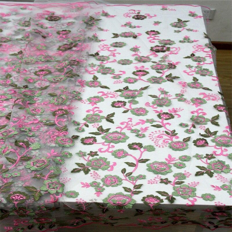 HFX зеленый/розовый вечерние Мода Аппликация Нигерия французский вышитые высокое качество чистая кружева последние Тюль африканские ткани
