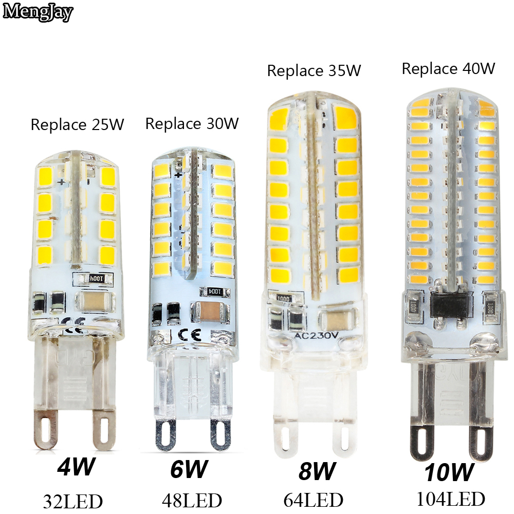 <font><b>G9</b></font> <font><b>LED</b></font> 220V 4W <font><b>6W</b></font> 8W 10W Corn Bulb 360 degrees SMD3014 2835 <font><b>g9</b></font> bulbs High Quality Chandelier Light Replace Halogen Lamp image