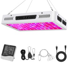 Phlizon led plant grow light flower seedling indoor horticole lighting lamp bridgelux growing for plants full spectrum