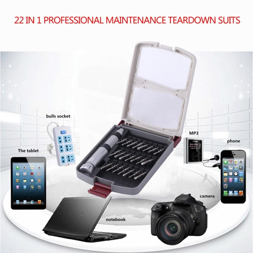 Smartphone Electronics  Professional Repair Tools For Laptop 22-in-1 Screwdriver Set  Portable Precision Devices portable 12 in 1 precision screwdrivers for electronics diy
