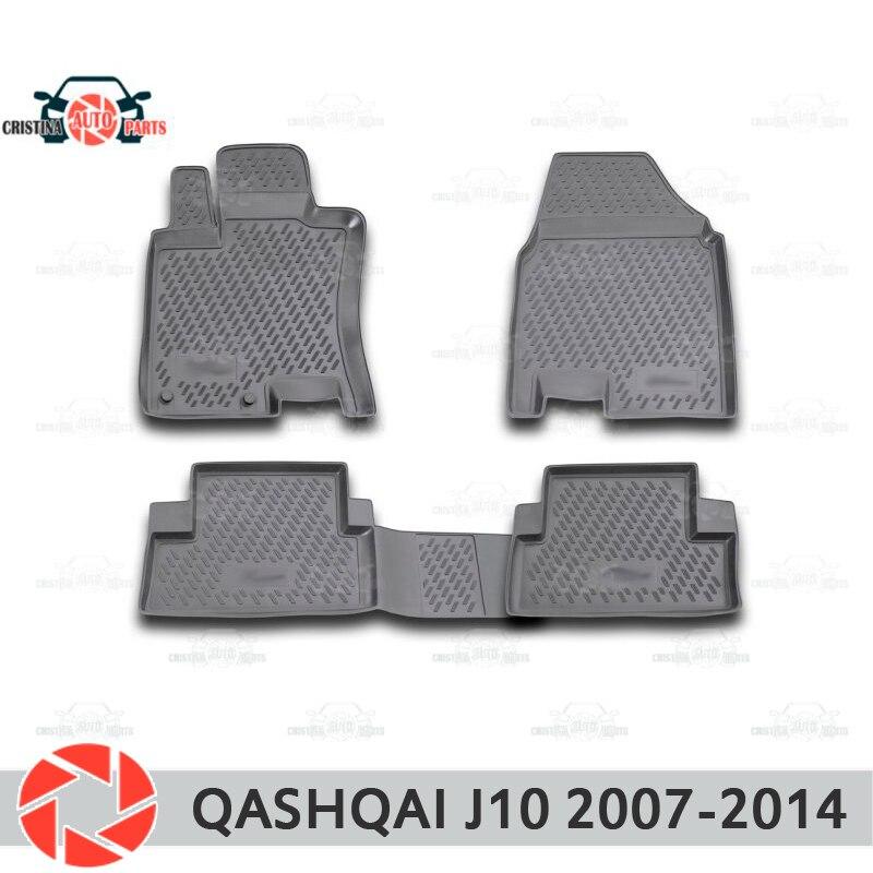 Alfombrillas de suelo para Nissan Qashqai J10 2007-2014 alfombras antideslizantes de poliuretano de protección de suciedad interior de accesorios de estilo de coche