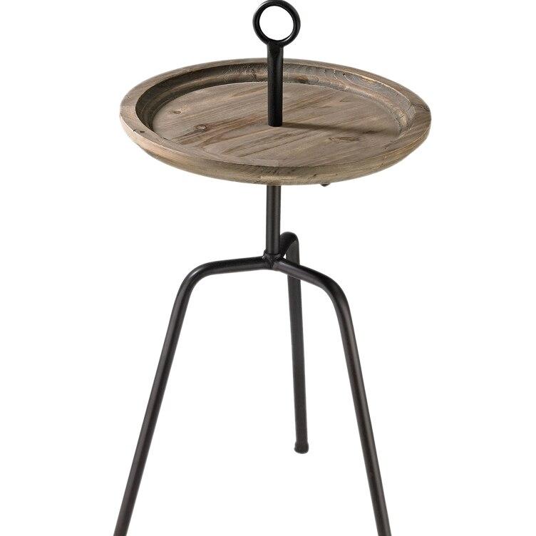 где купить Sterling Washed Oak Drinks Table - Washed Oak/Bronze по лучшей цене