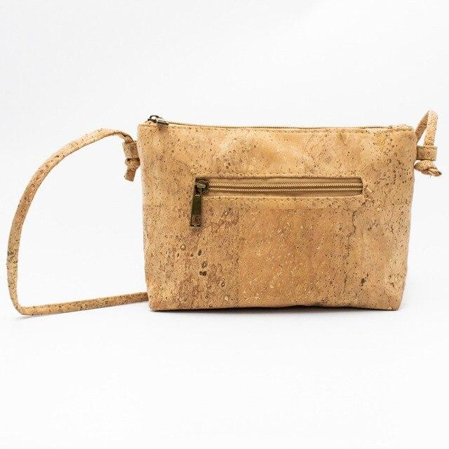 """Sac en bandoulière en liège """"Les carrés beiges"""" pour femme vegan - yourveggie.com"""