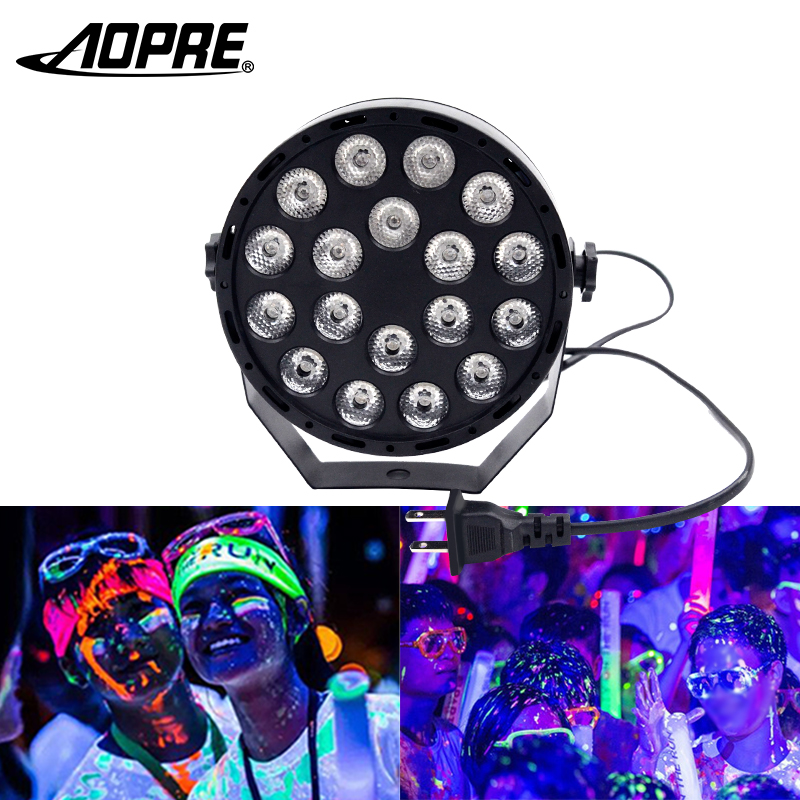 LED UV Party Light 18W Stage Lighting Effect Mini Disco Light with DMX 512 Control IP64 Waterproof for DJ Club Home Party BarLED UV Party Light 18W Stage Lighting Effect Mini Disco Light with DMX 512 Control IP64 Waterproof for DJ Club Home Party Bar