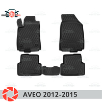 Floor mats for Chevrolet Aveo T300 2012 2015 rugs non slip polyurethane dirt protection interior car styling accessories
