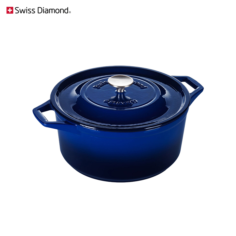 Pan Swiss Diamond PC 1328CB blue dinnerware cookware for kitchen tableware trendy crystal long ring swiss blue