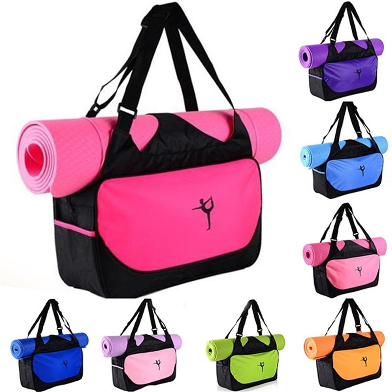 Multifunctional Sport Bag Clothes Yoga Bag Yoga Backpack Shoulder Waterproof Yoga Pilates Mat Case Bag Carriers Gym Without Mat