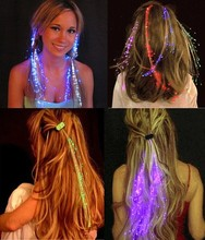 Colorful Flash LED Hair Braid Clip Hairpin Decoration RGB Ligth Up For Show Party Dance Christmas DHL free shipping 200pcs(China)