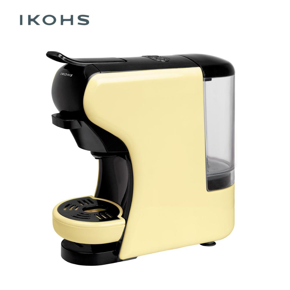 IKOHS POTTS Automatic Coffee Machine Express Vanilla Color Capsules Of Dolce Gusto Nespresso And For Ground Coffe 0.7L 1450W