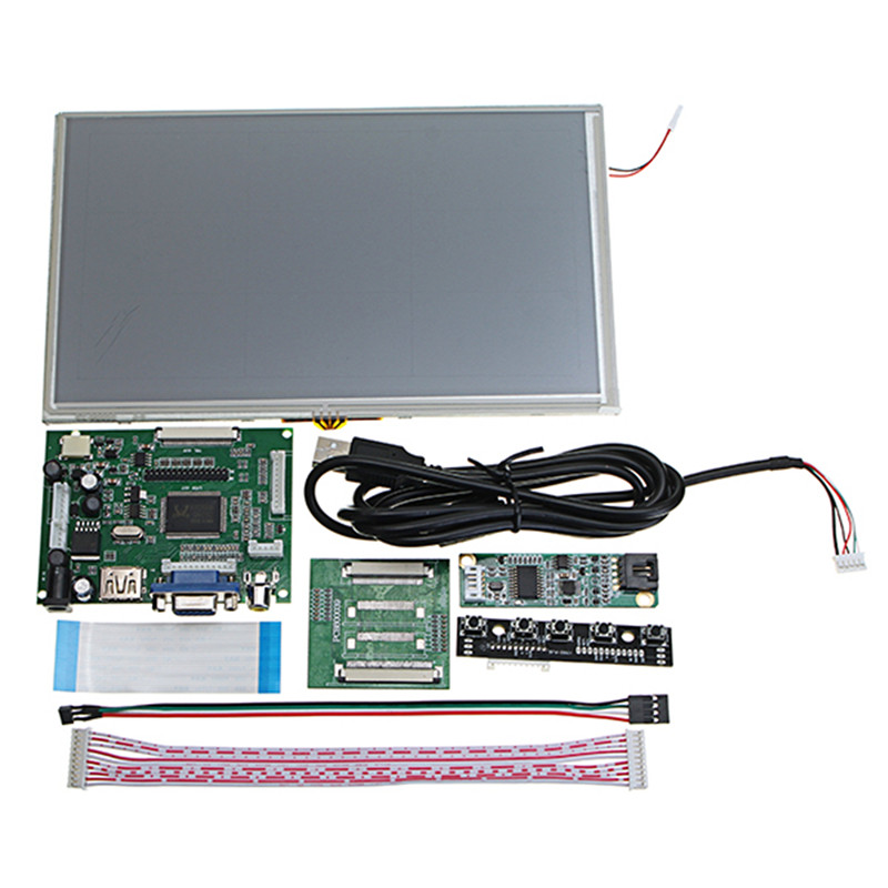 9 Inch Digital 1024x600 LCD Touch Screen + HDMI/VGA Driver Board For Raspberry Pi finesource 7 1280 x 800 digital tft lcd screen driver board for banana pi raspberry pi black