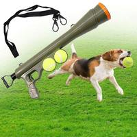 Interactive Dog Toys For Large Dogs Tennis Ball Launcher Gun Treat Thrower Cricket Ball Muzzle Outdoor Catapult Semi Automatic E