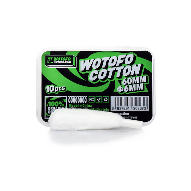 US $5 55 20% OFF|10 strips original Wotofo Agleted Organic Cotton 6mm for  Profile RDA vape tank electronic cigarette 100% organic wick cotton-in