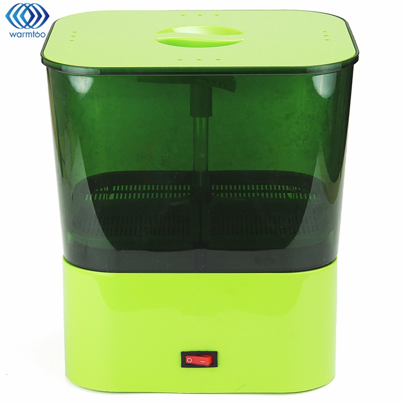 Bean Sprouts Machine Full Automatic Double Layer Household Multifunctional Small Bud Machine Green 220V bear three layers of bean sprouts machine intelligent bean sprout tooth machine dyj b03t1