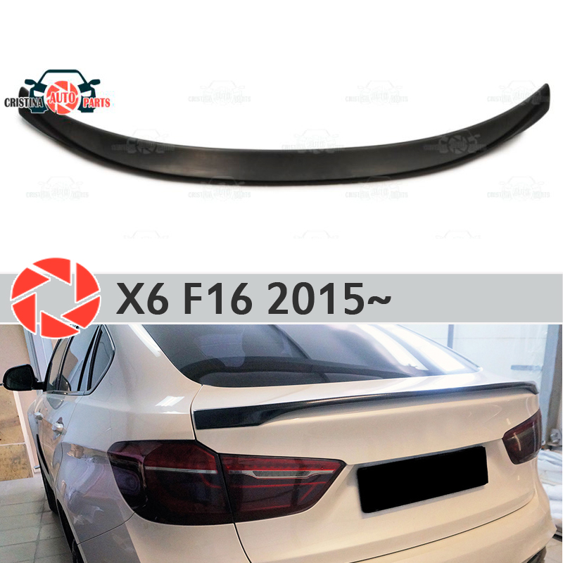 Lip spoiler for BMW X6 F16 2015~ plastic ABS decoration trunk door accessories protection car styling molding car styling for bmw