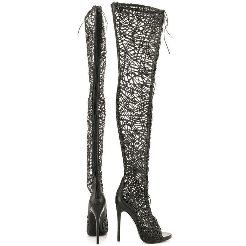 Beige-Summer-newest-open-toe-cut-outs-gladiator-thigh-high-boots-sexy-lace-up-over-the-knee