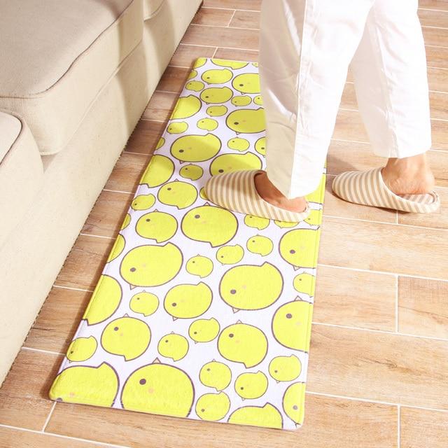 40x60cm/50x80cm/45x120cm/60x90cm Cartoon Small Yellow Chicken Carpet Sofa  Floor Mat Living