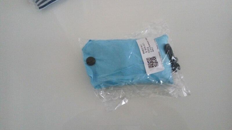 Opvouwbare boodschappentas draagbare handtas boodschappentas reistas met hoepel sleutelhanger clip photo review