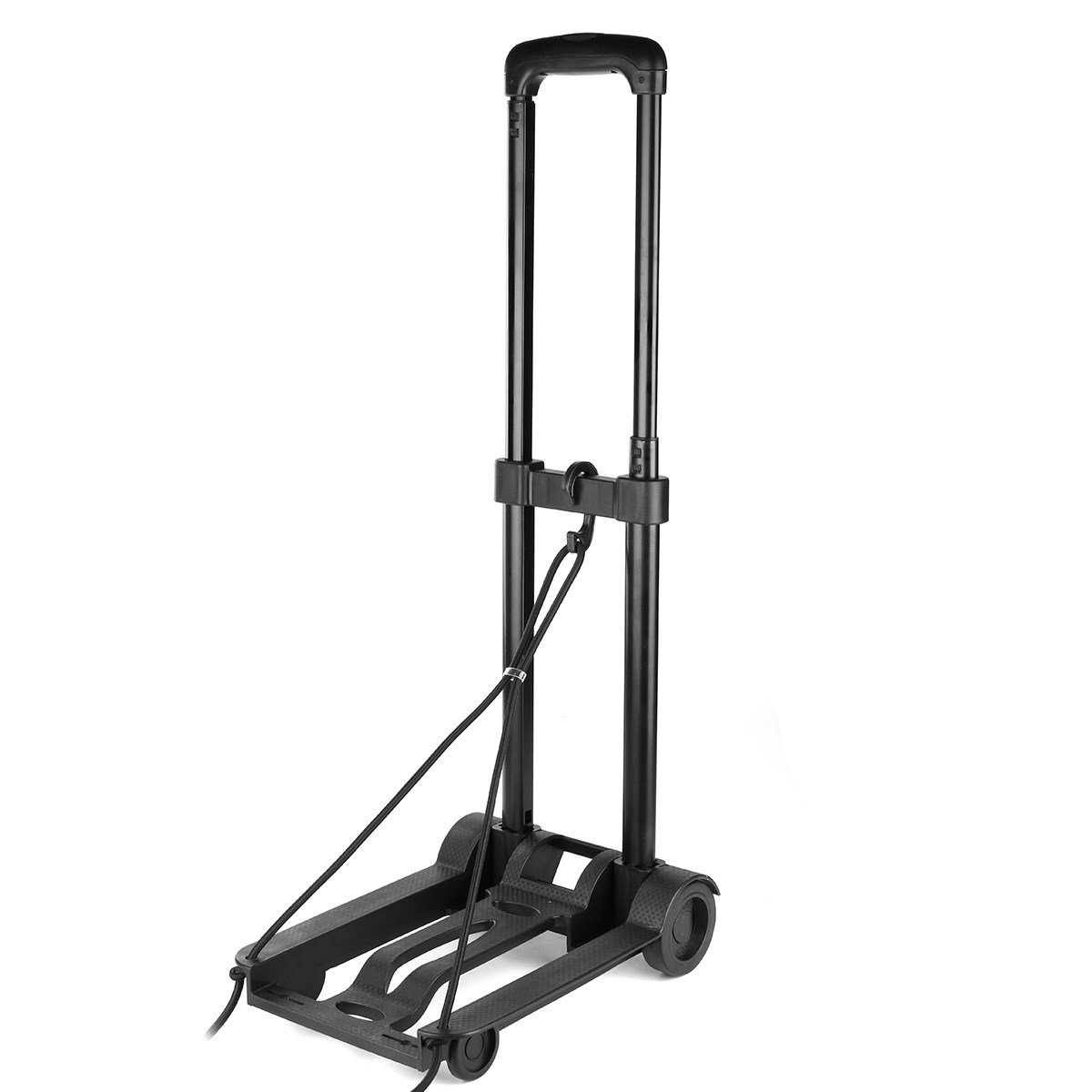 Folding Handcart Adjustable Hand Luguagge Trolley Cart With Wheel Metal Warehouse Sack Height Home Shopping Travel