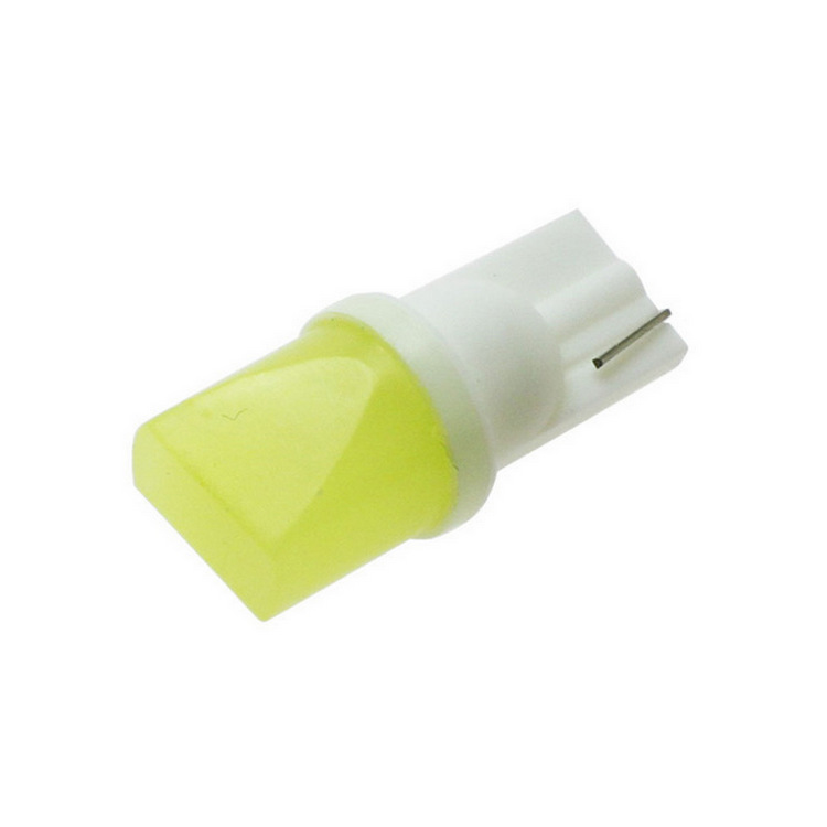 1pc Car led 12V T10 W5W COB 194 168 W5W 1.5W Ceramic Shell Car Auto Wedge Side Interior Trunk Read Lamp Bulb white yellow