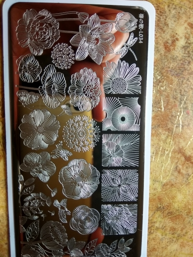 1 Pc 12*6cm Rectangle Stamping Plate Line Flower Animal Pattern Manicure Nail Art Stamp Image Plate L034