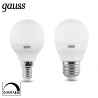 Лампа светодиодная шар Gauss LED Globe dim E14 E27 7W 3000К 4100К диммируемая 105102207 D 105102107 D 105101207 D 105101107 D