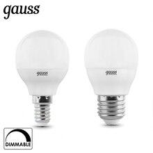 Лампа светодиодная шар Gauss LED Globe-dim E14 E27 7W 3000К 4100К диммируемая 105102207-D 105102107-D 105101207-D 105101107-D