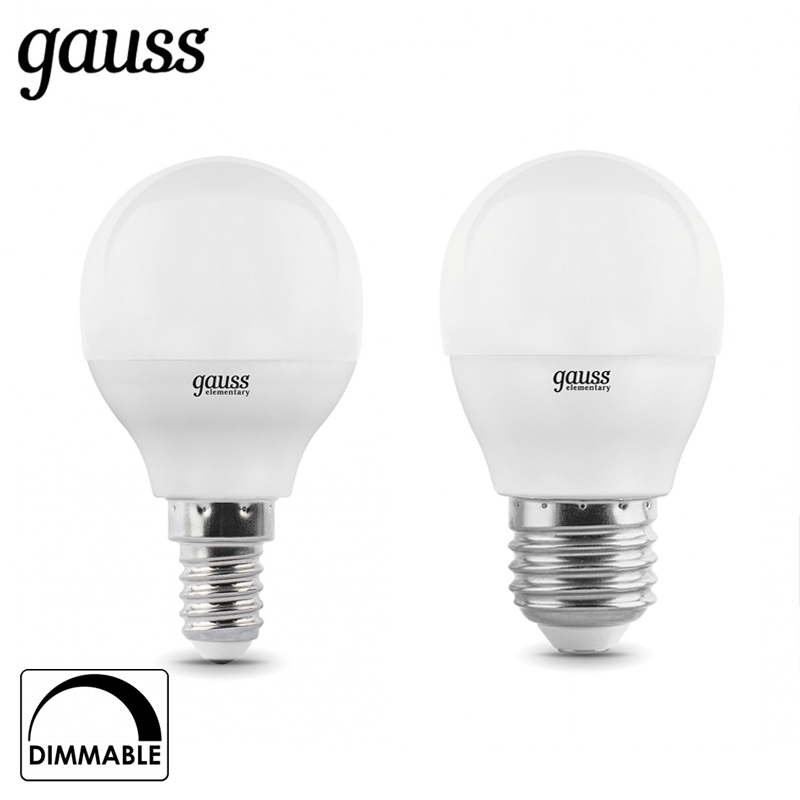 LED lamp bulb ball diode dimmable E14 E27 G45 7W 3000K 4000K cold neutral warm light Gauss Lampada lamp light bulb globe lexing lx 035 e14 4w 300lm 3500k 80 smd 3528 led warm white spotlight bulb 220 240v