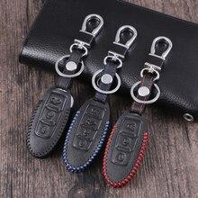 Кожаный Автомобильный Чехол для дистанционного ключа для Nissan Qashqai J10 J11 X-Trail t31 t32 kicks Tiida Pathfinder муранское Примечание Juke автомобильный Стайлинг