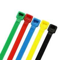 ZHEJIN (100 pcs) 8 pollici X18lbs Colore Cavo di Nylon Cravatta Verde/Rosso/Giallo/Blu/Nero/Bianco di Plastica di Colore zip Trim Wrap Cinghie 200 millimetri