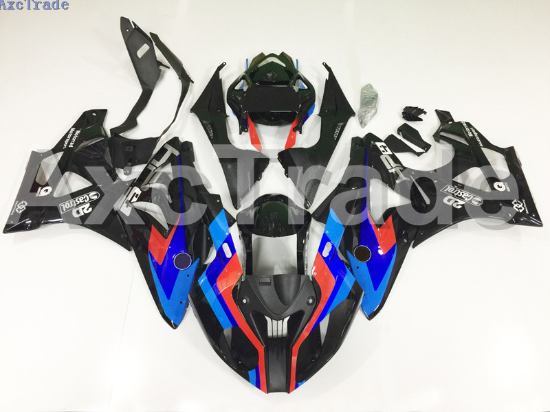 Motorcycle Fairings For BMW S1000RR S1000 2012 2013 2014 12 13 14 ABS Plastic Injection Fairing Bodywork Kit Black Blue A163