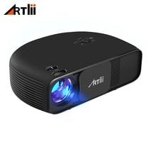 Artlii Overhead LED דף הבית של מקרן קולנוע 3500 Lumens Support 1080P מחשב נייד מקרן וידאו נייד למשחקים ומסיבה