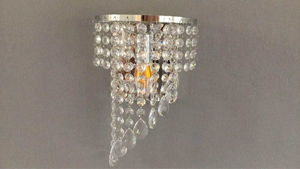 Luminárias de parede Quarto Sconce Cristal