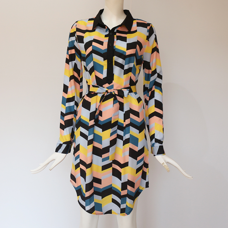 Chiffon Boho Long Sleeve Casual Dress 25