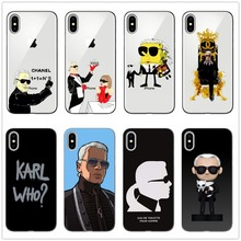 Karl Lagerfeld Transparent High Quality Silicone Soft TPU Phone Case for iPhone 5 11 11PRO MAXx 6 7 7plus 8 8Plus X XS MAX XR