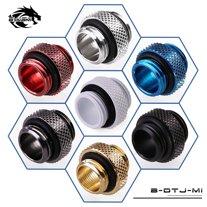 Bykski G1/4'' Double External Thread Fitting Dual Male Connector 7 Colors
