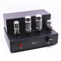 Готовые Черный EL34 ламповый усилитель стерео HiFi мини звуковая вакуумная трубка Amp 8 W + 8 Вт