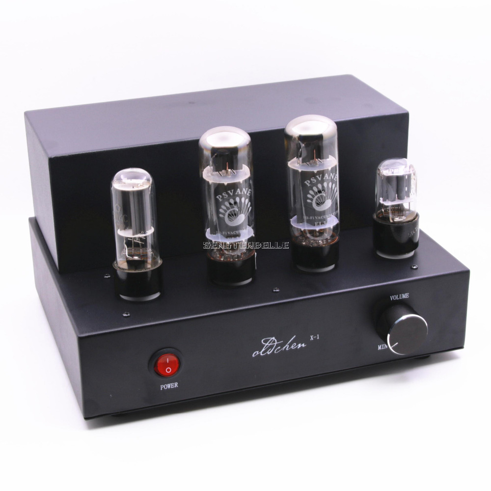 Finished Black EL34 Tube Amplifier Stereo HiFi Mini Audio Vacuum Tube Amp 8W+8W цена
