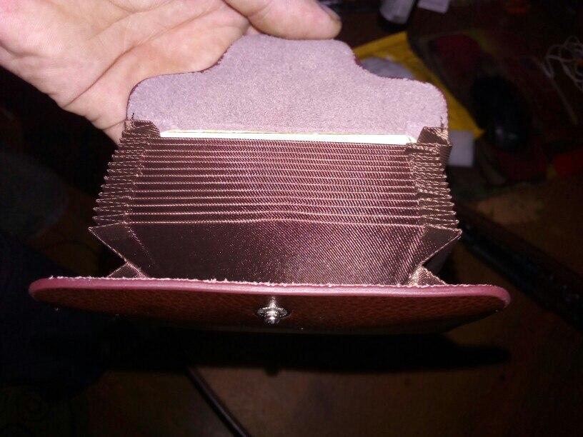 Corfeiter Brand Men Credit Card Holder Vintage Split Leather Women Cardholder Business Card Case Buckle Card id Holders Retro 4 photo review