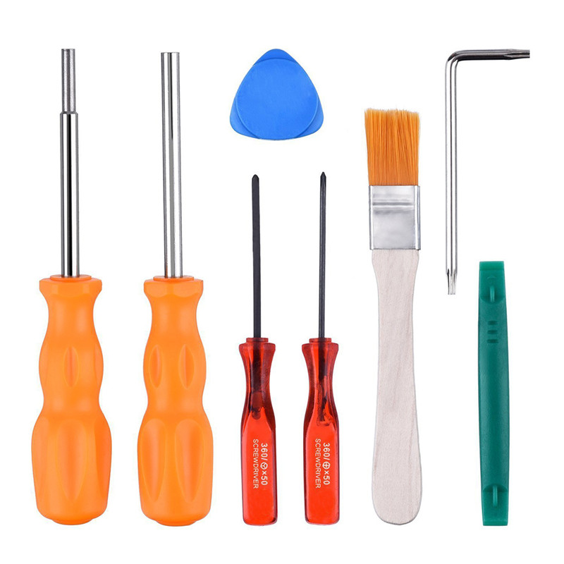 8Pcs Full Tool Kit Game Accessories Professional For Nintendo Gaming Consoles With Security Screwdriver Game Bit Parts