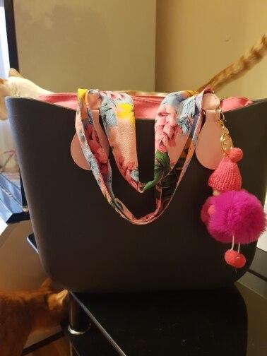 tanqu 1 paar Lange zachte stof Handvat met drop end voor Bag O Bag handgrepen voor EVA Obag Handtas Damestassen photo review