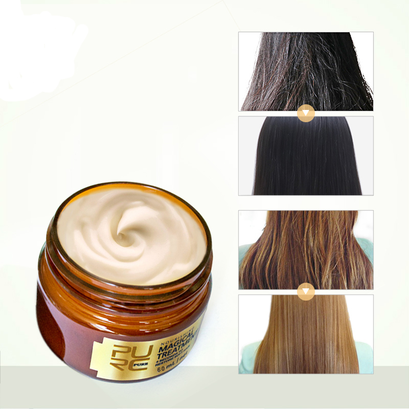 Magical Treatment Mask 5 Seconds Repairs Damage Restore Soft For All Hair Types Keratin Hair Scalp