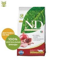 N&D Cat Chicken & Pomegranate Neutered корм для стерилизованных кошек и кастрированных котов, Цыпленок и гранат, 10 кг.