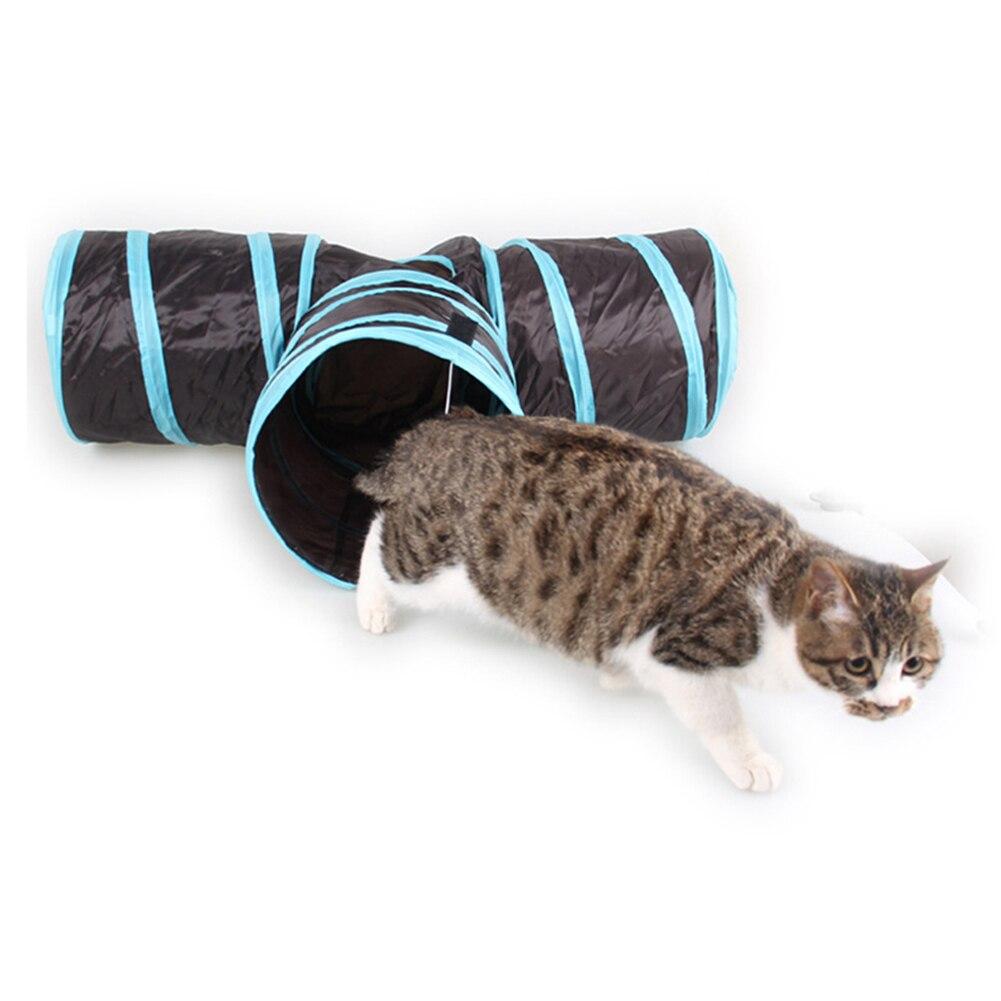 Pet Животные мягкие Товары для кошек туннель Игрушечные лошадки трубки ткань убежище игры складной домой шар