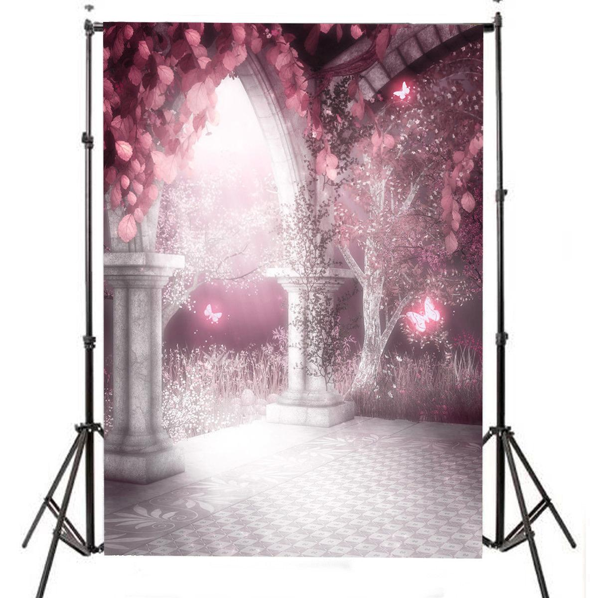 7X5ft Romantic Scene Photography Backdrop Studio Photo Background Photo Props Wedding Valentine's Day Party 5 x 7 ft pink love hearts print photo backdrop for wedding party portrait photography studio background s 1305